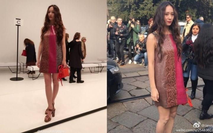 Cantiknya-Krystal-f(x)-Pakai-Dress-Kulit-di-Acara-Fashion-Milan!