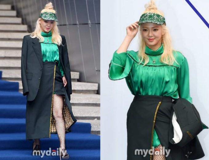 Hyoyeon-SNSD-Gunakan-Fashion-Nyentrik-Di-Acara-'Seoul-Fashion-Week'.