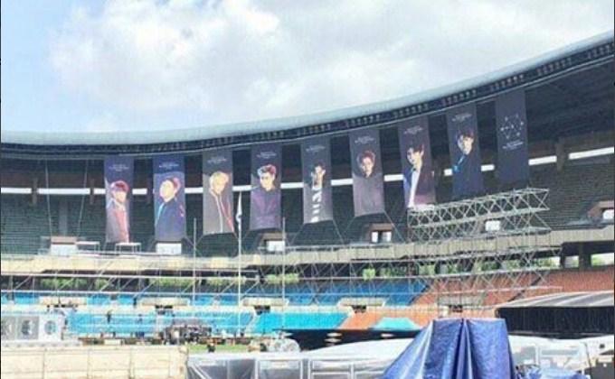 Jelang-Konser-Encore-'EXO'rDIUM',-EXO-Tak-Pasang-Banner-Lay