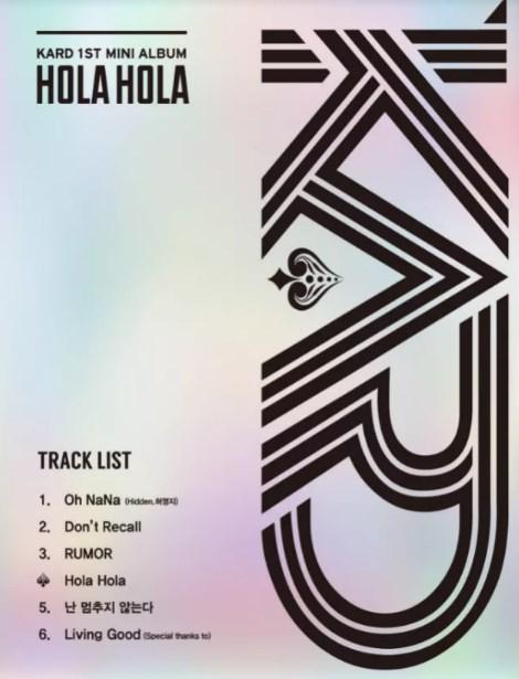 Daftar-Lagu-Mini-Album-Debut-K.A.R.D-