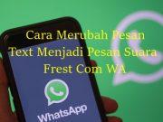 Frets Com WA Cara Mengubah Pesan Text Menjadi Pesan Suara Di Whatsapp