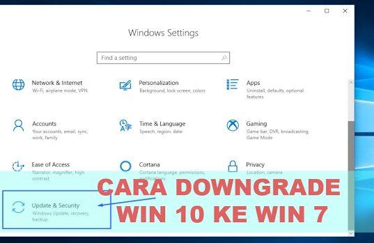 Langkah Langkah Downgrade windows 10 ke windows 7