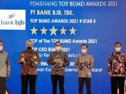 Bank bjb Sabet 4 Penghargaan di Ajang TOP BUMD Awards 2021